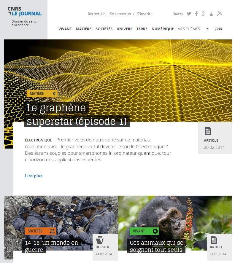 Lancement du site d'information scientifique CNSRlejournal.fr