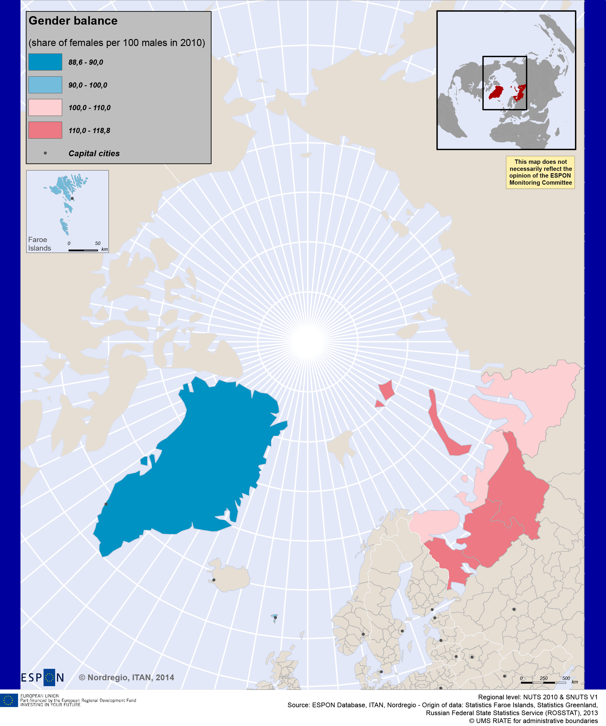 Map 3. The Gender Balance
