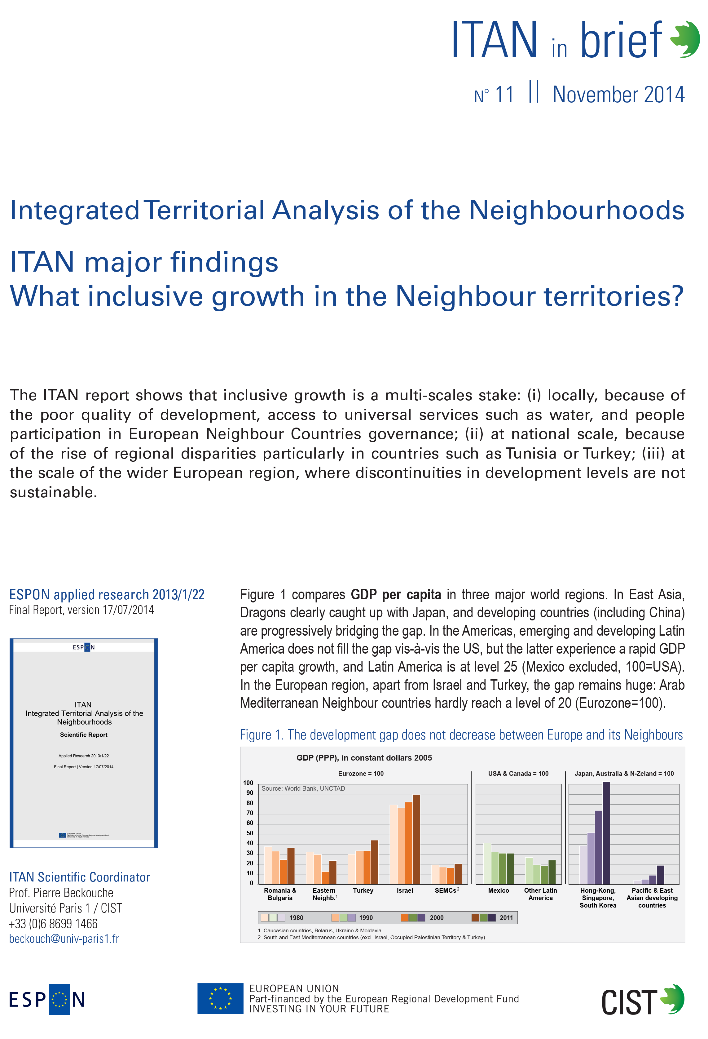 ITAN in brief n. 11, What Inclusive Growth in the Neighbour Territories, October 2014