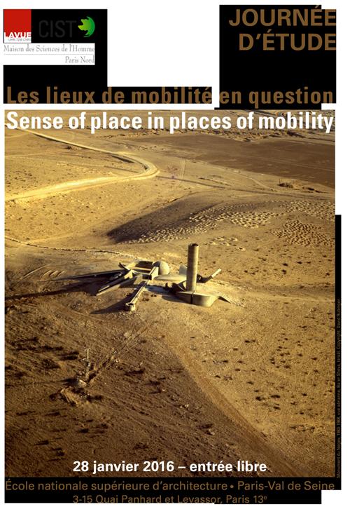 Affiche de la journée d'études Les lieux de mobilité en question, 28 novembre 2016