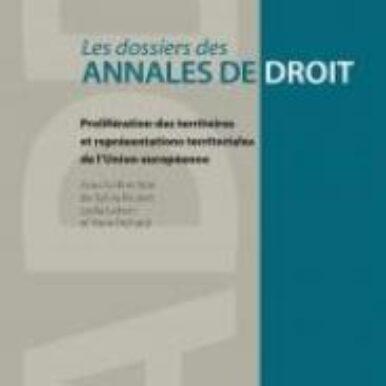 couverture - Sylvia Brunet, Lydia Lebon & Yann Richard (dir.), Prolifération des territoires et représentations territoriales de l'Union européenne, Collection